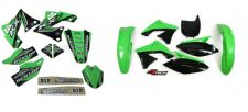 New KXF 250 09 10 11 12 PTS4 Graphics Sticker Plastic Kit Green Plastics KXF250